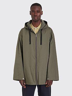 Margaret Howell MHL Zip Up Anorak Jacket Crisp Proofed Khaki