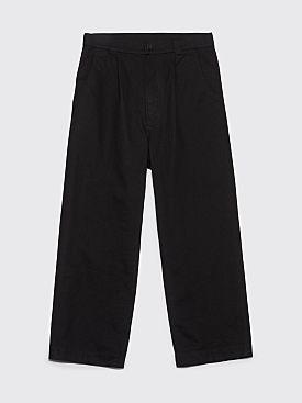 Margaret Howell MHL Straight Leg Pants Cotton Drill Black