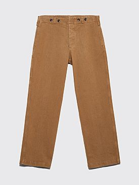 Margaret Howell MHL Cinched Back Cotton Drill Pants Khaki