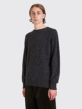 Margaret Howell Saddle Crew Neck Sweater Donegal Cashmere Charcoal
