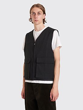 Margaret Howell MHL Work Vest Cotton Drill Black