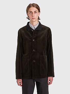 Margaret Howell MHL Stand Collar Heavy Corduroy Jacket Bark