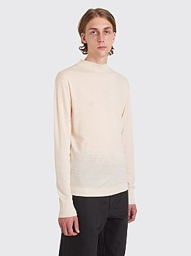 Margaret Howell MHL Thermal Wool Jersey T-shirt White