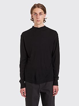Margaret Howell MHL Thermal Wool Jersey T-shirt Black