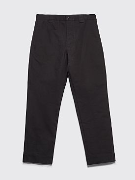 Margaret Howell MHL Tapered Cotton Drill Pants Black