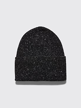 Margaret Howell Ribbed Beanie Donegal Cashmere Charcoal