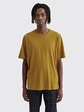 Margaret Howell MHL Basic Cotton Linen T-shirt Ginger