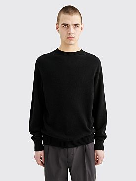 Margaret Howell Saddle Neck Crew Cotton Cashmere Black