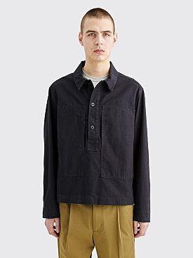 Margaret Howell MHL. Pull On Shirt Jacket Indigo Twill