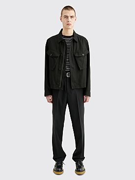 Margaret Howell MHL. Cropped Army Jacket Japanese Drill Black