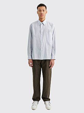 Margaret Howell Oversized Shirt Micro Check Cotton White / Blue
