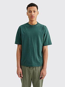 Margaret Howell MHL Basic Cotton Linen Jersey T-shirt Uniform Green