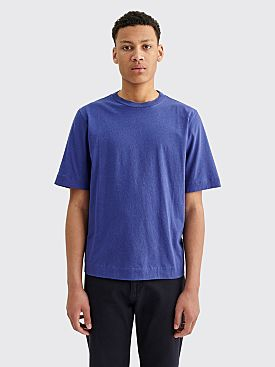 Margaret Howell MHL Basic Cotton Linen Jersey T-shirt Indigo