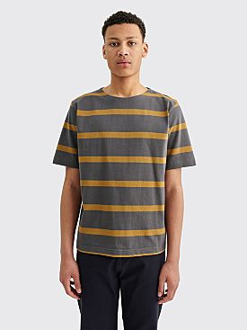 Margaret Howell MHL Matelot Wide Stripe Charcoal / Ochre