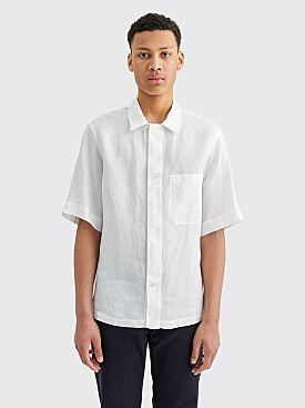 Margaret Howell Drop Pocket PJ Linen Shirt White