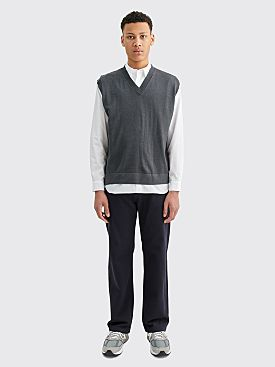 Margaret Howell Boxy Merino Wool Slipover Grey