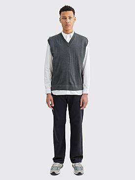 Margaret Howell Boxy Merino Wool Slipover Grey