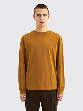 Margaret Howell MHL Wide Crew Neck Matte Jersey Ochre