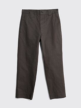 Margaret Howell MHL Tapered Trouser Heavy Cotton Drill Charcoal