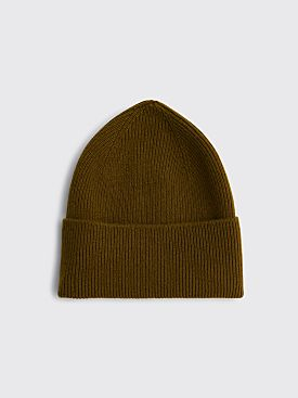 Margaret Howell Ribbed Beanie Merino Cashmere Olive
