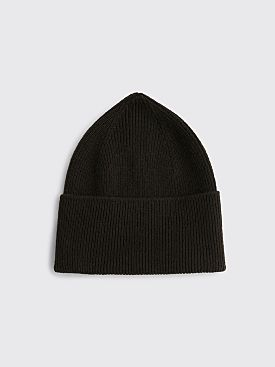 Margaret Howell Ribbed Beanie Merino Cashmere Ebony