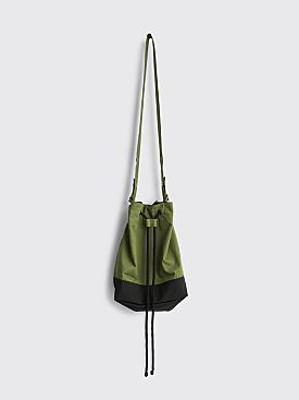 Margaret Howell MHL Soft Bucket Bag Proofed Plainweave Cotton Sage
