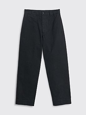 Margaret Howell MHL Tapered Trouser Cotton Drill Black