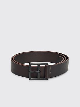 Margaret Howell MHL Military Leather Belt Dark Brown