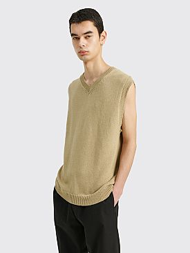 Margaret Howell Heavy Knit Slipover Irregular Spun Cotton Stone