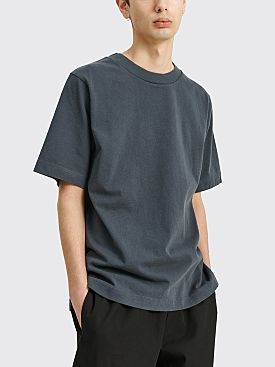 Margaret Howell MHL Short Sleeve Wide Crew Neck Matte Jersey Slate