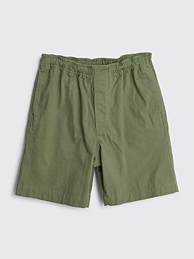 Margaret Howell MHL Pull Up Shorts Khaki