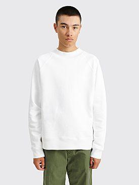 Margaret Howell MHL Sweatshirt Dry Loopback Jersey White