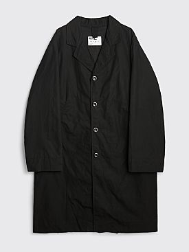 Margaret Howell MHL Military Mac Washed Waxed Cotton Black