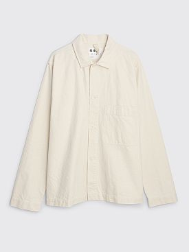 Margaret Howell MHL Utility Shirt Cotton Twill Off White