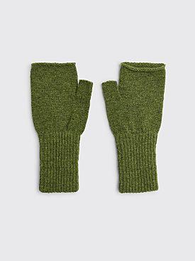 Margaret Howell MHL Felted Fingerless Glove Wool Apple Green