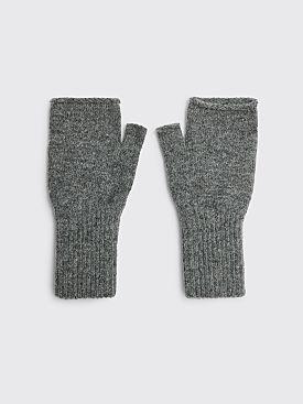 Margaret Howell MHL Felted Fingerless Glove Wool Grey