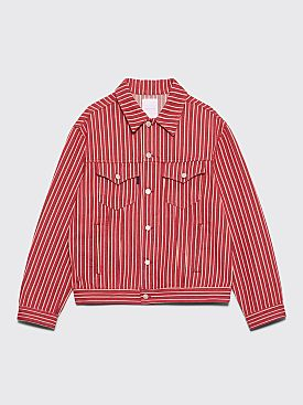 Napa by Martine Rose Corbier Jean Jacket Red