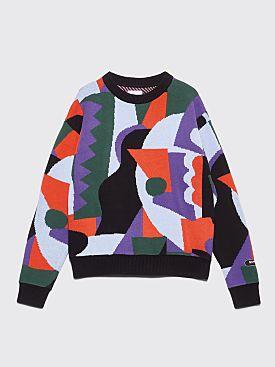 Napa by Martine Rose Ornon Knitted Sweater Jacquard Black / Orange