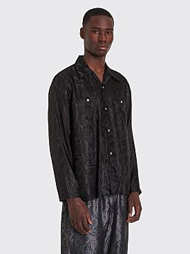 Needles Rayon Cowboy Shirt Jacquard Black