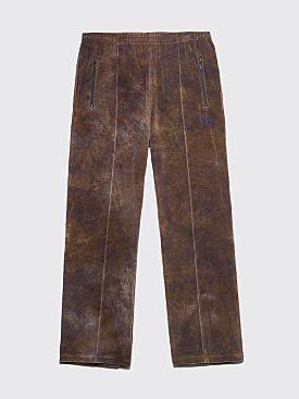 Needles Track Pants Velour Dye Olive