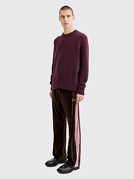 Needles Papillon Embroidery Side Line Track Pants Brown