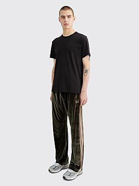 Needles Papillon Embroidery Side Line Track Pants Green