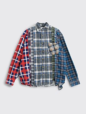 Rebuild by Needles 7 Cuts Flannel Shirt Size L