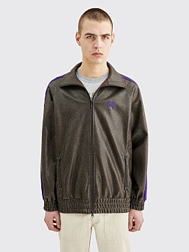 Needles Track Jacket Synthetic Leather Grey