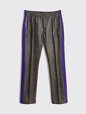 Needles Narrow Track Pants Synthetic Leather Grey