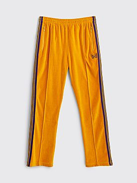 Needles Narrow Velour Track Pants Mustard