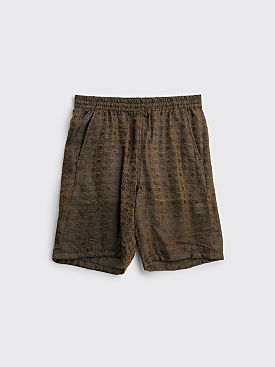 Needles Basketball Shorts Jacquard Arabesque Dark Brown