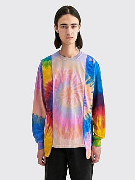 Rebuild by Needles 5 Cuts LS T-shirt Assorted Tie Dye Light Pink