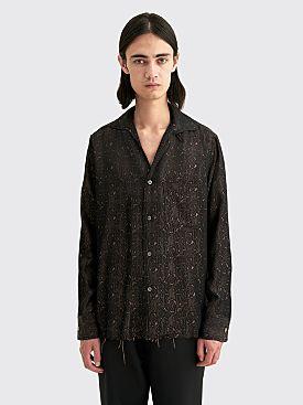 Needles C.O.B. Italian Collar Shirt Damask JQ Brown