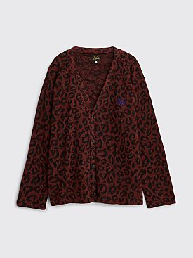 Needles Knit Cardigan Leopard Red